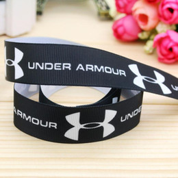 "7 8"" 22mm Black Sport Logo Printed Grosgrain Ribbon for Party Deco Hair Bow DIY Craft Baby A2-22-3115"