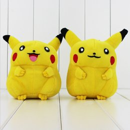 New Poke Cute PIKACHU Plush Soft Stuffed Doll Toy 17cm for kids gift toy free shipping EMS