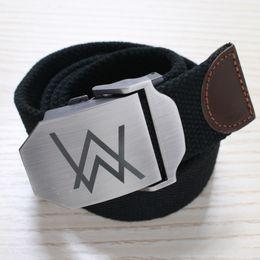 Wholesale 2016 New Top Fashion Belts Yaocok DJ Rock Allen Walker Faded Spot Embossing Rectangle Men Women Smooth Mouth Buckle Belt colors