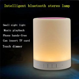 Wholesale Wireless bluetooth speaker double dynamic mini bluetooth speaker horn subwoofer stereo portable music d surround subwoofer Smart touch lam