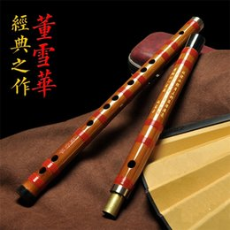 Wholesale DXH001 Traditional Handmade Professional quality Chinese Bamboo Dizi with excellent tone By Dong Xue Hua