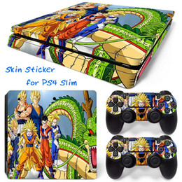 Cool Dragon Ball 813# PS4 Slim Vinyl Skin Sticker Console Skin + 2 PCS Controller Cover Decal Skins For PS4 Slim