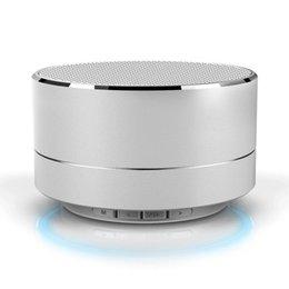Fashion Modern Aluminum Alloy Cylinder Wireless Bluetooth Speaker Calls Handsfree TF Card Music Bass Subwoofer Stereo Speaker