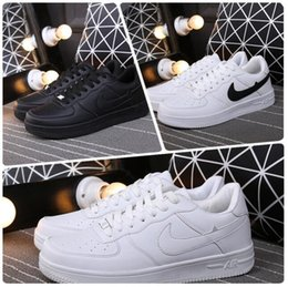 Wholesale 2016 Top Quality Men and Women forceing the one white and black with Air drill size run shoes
