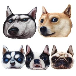 Wholesale Hot Sale D Printed Dog face Car Headrest Pillow New Arrival Activated Carbon Seat Cushion Supplies Neck Auto Safety Pillow HJIA896