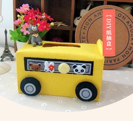 DIY non woven handicraft Free cutting tissue box Handmade fabric Creative gifts
