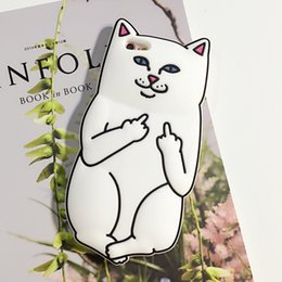 Wholesale Cellphone Case Lovely Pocket Cat Silicone Funny Beef Finger for Iphone S Splus