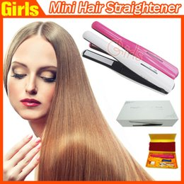 Wholesale Small Battery Usb - NEW Portable USB Hair Straightener Rechargeable Cordless Hair Straightener Mini Cordless Straightener Travel Flat Iron Small Pocket