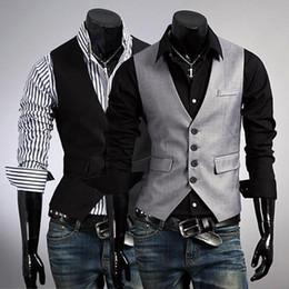 spring 2016 men dark gray waistcoat men's fashion waistcoat cultivate one's morality leisure single-breasted