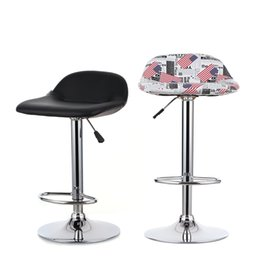 Wholesale IKAYAA Set of Pneumatic PU Leather Swivel Bar Stools Chairs Height Adjustable Pub Counter Barstools Dinning Chair US STOCK H16719