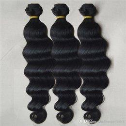2017 cheveux ondulés tisse pour les femmes noires 8A Grade Brazilian Hair Weave 3 Pièces / lot Couleur Naturelle 100g Deep Loose Wave 10