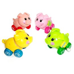 Wholesale Kids Animal Toys Move - Kawaii Force Control Wind up Swing Pig Naughty Wind-up Smart Mini Pig Head and Tail Can Move Cute Kids Baby Toys Random color