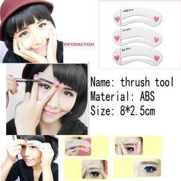 Wholesale 3 Fashion Beauty Eyebrow Card Sets Eyebrow Shaping Card Set Thrush Auxiliary Equipment Thrush Tools