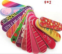 Wholesale Flower Nail File Buffer Sanding Manicure Tool Nail Art Polish Sandpaper Strip Polishing