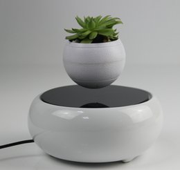 Wholesale 20 dhl free new magnetic levitating floating plant flower display stands rotating plants display stands