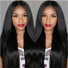 Descuento peluca recta sin cola peruana llena del cordón Straight Full Lace Pelucas de Pelo Humano Silk Top Glueless Full Lace Wigs para las mujeres negras Peruvian Human Hair Silk Base Wigs