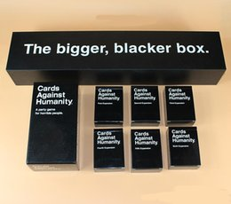 Wholesale Cards Humanities Against game Humanity US UK AU CA Basic Edition Game Plus Expansion Pack and The Bigger Blacker Box