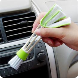 Wholesale Llegada doble doble Slider coche aire acondicionado Outlet Venetian ventana limpieza cepillo multiusos cepillo cepillo de polvo