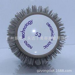 ONE PCS New Professional Hairdressing Salon Barber Hair Styling Ceramic Iron Round Comb Brush Barrel Set Kit