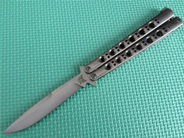 Wholesale Best Price the one BM42 butterfly knife balisong knife All steel handle c blade