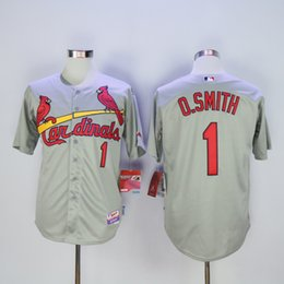 2016 St. Louis Cardinals #1 Ozzie Smith Throwback 1992 O.Smith Baseball Jerseys White Black Blue Gray Cheap Top Quality