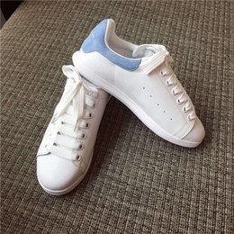Wholesale Most popular little white shoes newest MQ cowskin on vamp sheepskin inside you must have in summer and fall suit for any clothes