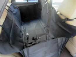 Скидка чехлы собаки сиденье Экологический Оксфорд черный Автомобиль Back Seat Обложка Гамак Мат для собак Pet Cat с ремня