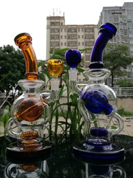 Wholesale 2016 New Bong with Inline Ball Perc Bongs Bent Neck quot g High Quality Glass water pipes come with Bowl