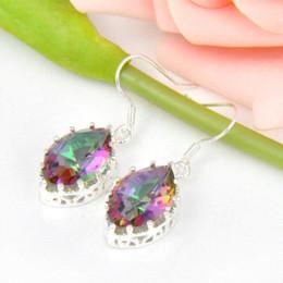 CRAZY Unique Design Rainbow Mystic Topaz Earring Charming nice women Dangle Earrings Wholesale earring diamond