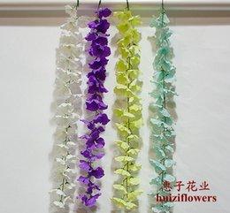 Wholesale 2016 cm Long Elegant Artificial Silk Tofu pudding Rattan flower Rattan For Wedding Centerpieces Decorations Bouquet Garland Home BSH