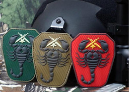 Wholesale VP Scorpion Unit D PVC Patches US Army USA Military patch Tactical Forest Morale Patch D