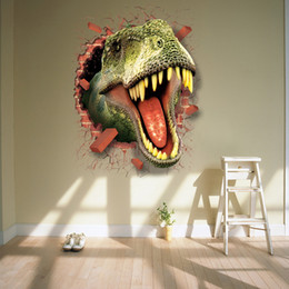 Wholesale The D Effect Dinosaur Wall Stickers The Bedroom of Children Room Sitting Room Background Picture Can Remove The Wall Stickers