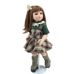 Muñecas del bjd en Línea-Súper realista muñecas 45cm 18inch SD BJD Recoger los entusiastas Regalo del Cabello largo de la princesa de la muñeca de las muchachas realistas Bebés Reborn