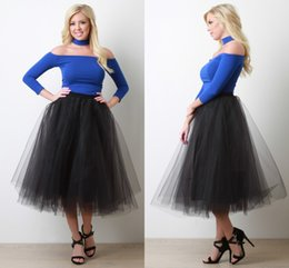 Gorgeous Tulle Layered Black Skirt For Women 2017 Summer Tutu Skirts Elastic Waist Custom Fit Ball Gown Party Dresses Plus Size