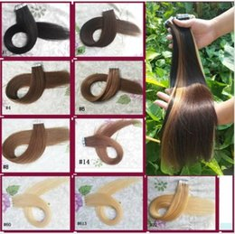 Wholesale Tape Weft Human Hair Extensions pack Colorful Hair Extensions b Skin Weft Adhesive Tape In Hair Best Sell quot quot