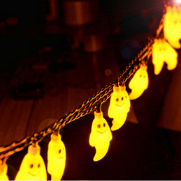 Wholesale Best selling Halloween ghost LED solar string lights V LEDs colorful outdoor led fairy lights DHL fast shipping