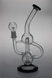 Wholesale Cool recycler oil rigs glass water bongs with mm joint water pipes percolator bubbler cm height great quality
