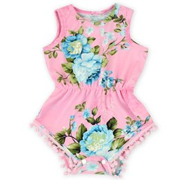 Pink Floral Baby Clothes ,Pom Newborn Birthday Outfit ,Summer Baby girls Floral Sunsuit ,Toddler Outfit ,Baby sunsuit