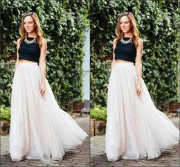 Wholesale Layered Tulle Tutu Skirts For Women Custom Made A Line Cheap Party Prom Skirts Long Length Women Clothing Cheap Skirts