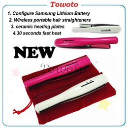 Wholesale USB Power Hair Straightening Comb New Cordless Portable Hair Straightener Mini Rechargeable Travel Flat Iron Small Pocket Magic Hair Curler