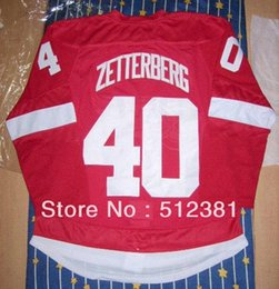 Wholesale Henrik Zetterberg red home jersey Special edition jersey Embroidered logo all name numbers stitched