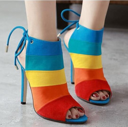 2019 SEXY WOMEN SHOES POINTED HIGH HEEL SANDALS COLORFUL LEATHER PUMPS SHOES