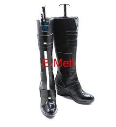 Wholesale American Cap Black Widow Natasha Cosplay Women s boots shoes Custom Made Halloween High Quality