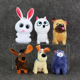 Wholesale 6 set The Secret Life of Pets Plush Soft Stuffed Doll Toy for kids gift retail