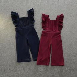 Wholesale Hug Me Girls Pants Overalls New Autumn Winter Fashion Pleated Denim Overalls Long Pants AA
