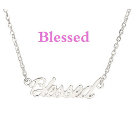 Blessed The Letter Pendant Necklace Silver Gold Plated Two Color Choice Letter Choker Necklace Women Sister Gifts Jewelry