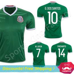 Wholesale Mexico green jersey new camisetas mexico euro cup G DOS SANTOS green CHICHARITO Jersey de Futbol football shirts uniforms