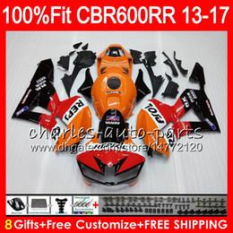 Injection Body For HONDA CBR 600 RR CBR600RR 13 14 15 16 17 89HM1 CBR 600RR F5 CBR600 RR 2013 2014 2015 2016 2017 Fairing kit Repsol Orange