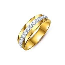 Fashion Gold Couple Classic Engagement Wedding Ring For women or man Eternity Stainless Steel Rings Fashion Jewelry B174