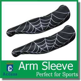 Araignées noires en Ligne-NOUVEAU Spider Compression Sport Arm Sleeve Camo Baseball Football Basketball Noir